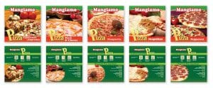 Mangiamo Frozen Pizza Packaging design by Adchix