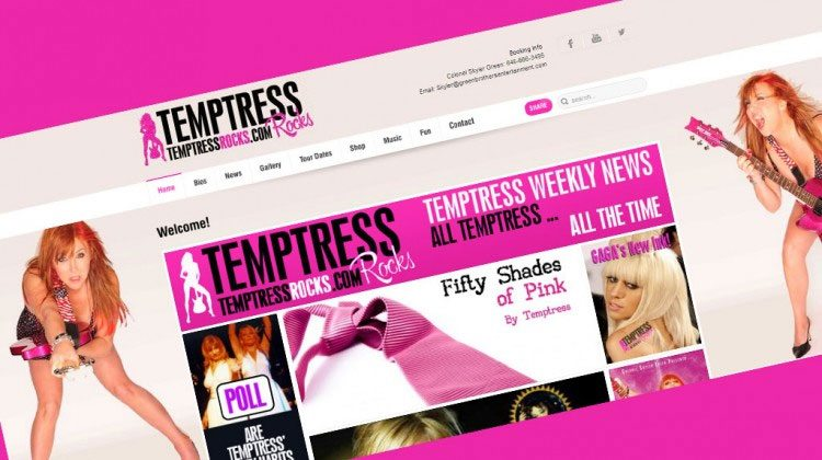 Temptress Rocks Website