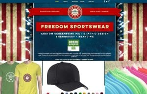 Freedome Sportwear Website Design