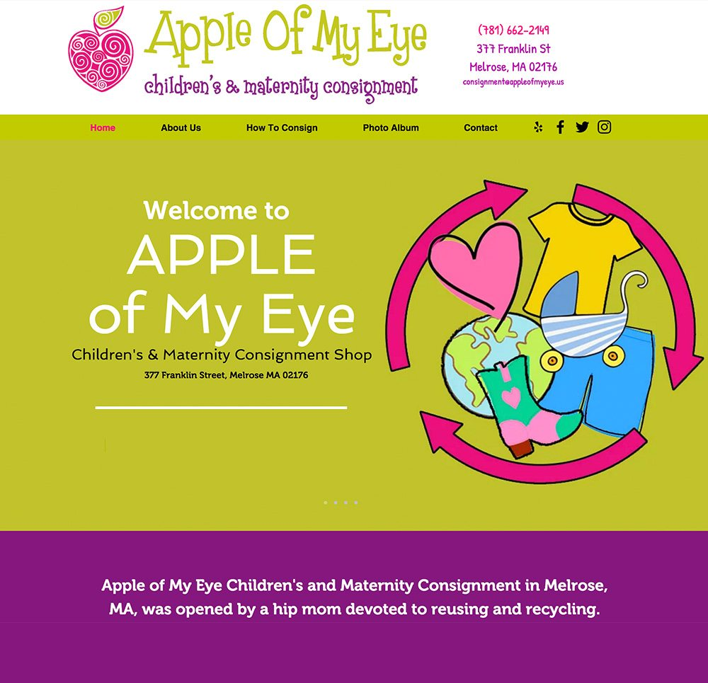 Apple of my eye web by adchix