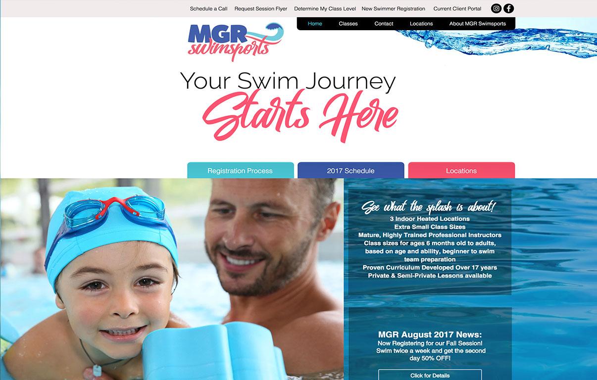 swim instructor website design by adchix