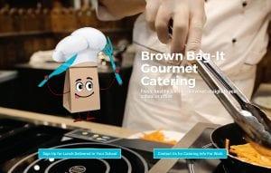 Gourmet Catering Website Design