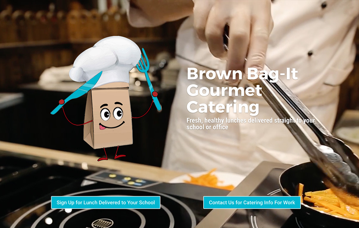 Gourmet Catering Website Design