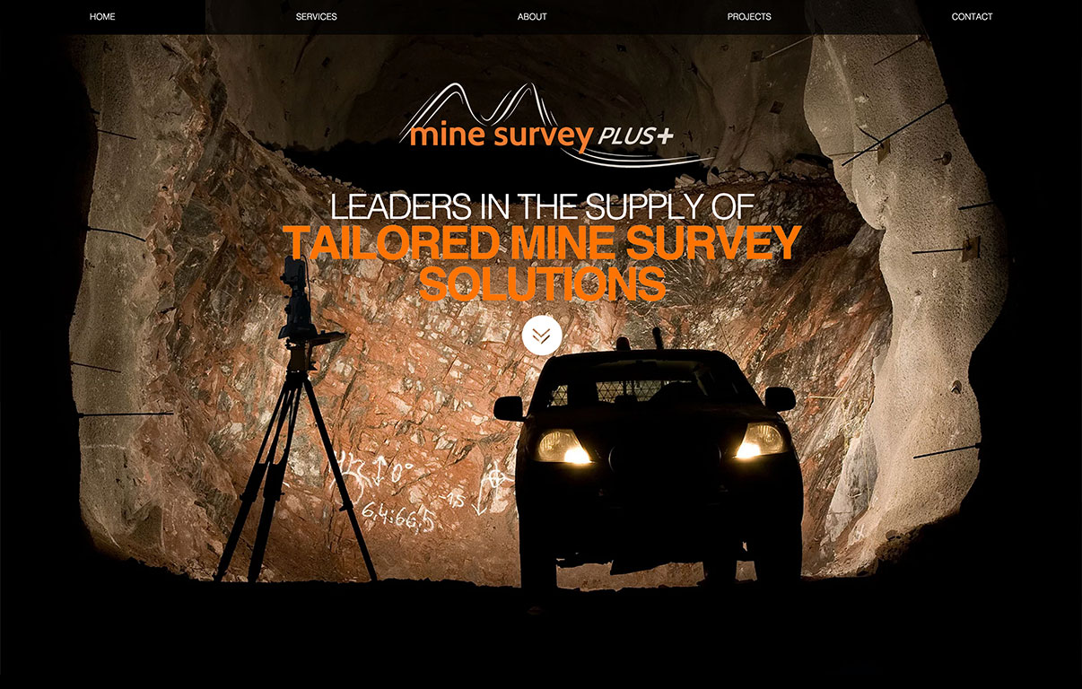Mine Survey Website Design by adchix