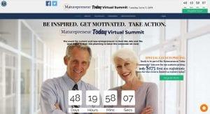 Maturepreneur Summit website by adchix